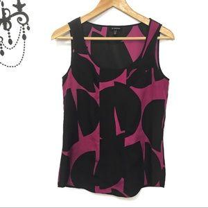 Le Chateau purple and black blouse Sz Xs